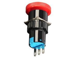 16mm Latching Emergency Stop Push Button Switch Red Mushroom Push Button