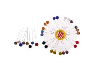 30 Pieces Crystal Hijab Scarf Pin Tailor Sewing Snag-Free Pins Colorful