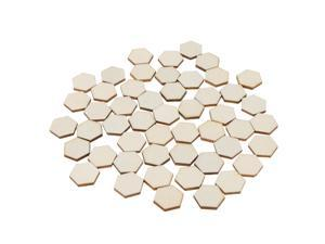 100 Pieces Hexagon Cutout Wooden Chips Scrapbooking Embellishment Craft