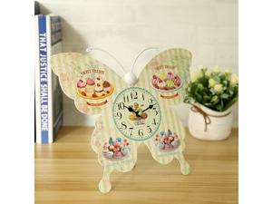 No Ticking Decorative Butterfly Alarm Clock Table Clock Stand Clock Time