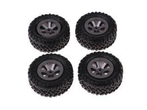 4Pcs 73mm Rubber Wheel Tire Tyres for WPL Military Truck RC Car Upgrade Part