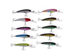 10pcs Hard Fishing Lures for Fresh/Saltwater,Fishing Tackle Lure Kit Set