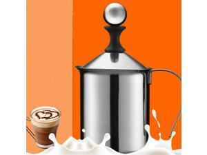 400ml Stainless Steel Milk Frother Double Mesh Milk Creamer Milk Foam