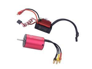 2838 3600KV Sensorless Brushless Motor 4Pole + 35A ESC for 1/16 1/14 RC Car