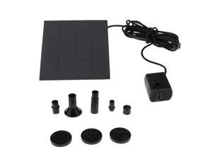 Solar Water Pump Power Panel Kit Fountain Garden Pond Submersible Watering