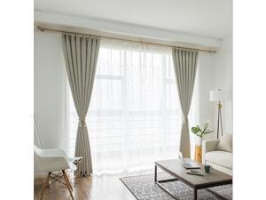 Simple Modern Plain Cross Linen Sheer Voile Curtain fo Bedroom & Living Room