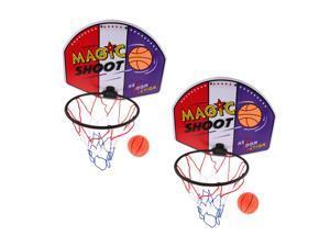 2pcs Basketball Toy Set Kids Baby Children Sports Train Equipment Net Hoop