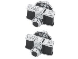 2pcs Retro Style Camera Brooch Jewelry Men Women Suit Corsage Pin Collar Pin