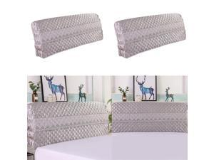 2 Pcs Luxury Silk-like Bedroom Bed Headboard Slipcover Protector Bed 200cm