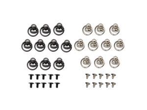 20 Sets Bead Head Button Stud Screwback with Ring for Wallet Chain Connector