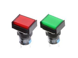 DC 12V Push Button Momentary Self Reset Square Switch with LED Light
