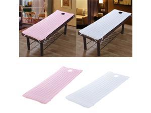 2pcs SPA Beauty Massage Treatment Bed Cover Mattresses 185x70cm White/ Pink