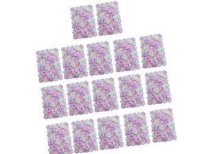 17pcs Artificial Flower Wall Panels Wedding Venue Decor Pink White
