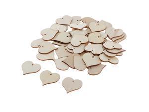 4pcs Natural Cutouts Wood Anthemy Shape DIY Craft Wooden Embellishment