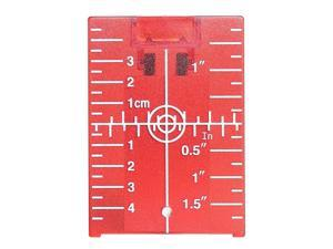 Magnetic Floor Laser Target Plate Card with Stand for Beam Application Red