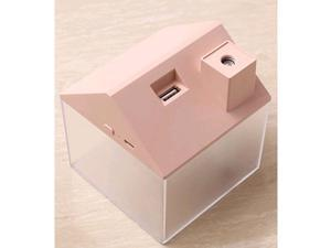 3-in-1 USB House Humidifier with Minifan & Colorful Night Light Pink
