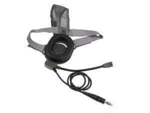 Anti Noise Headphone Intercom Earpiece Waterproof Headsets Gray