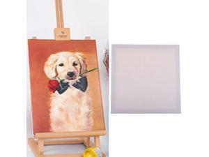 Blank White Canvas Board Wooden Frame For Oil Acrylic Painting 40x40cm