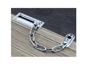 Stainless Steel Door Chain Guard Lock Slide Bolt for Home Security Silver