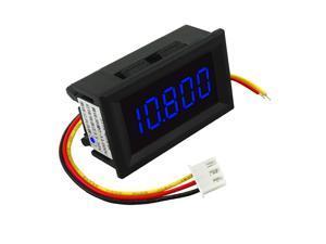 DC 3.5-30V Mini 5 Digit Digital LED Voltmeter Volt Meter Panel Car Blue