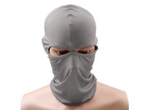 Outdoor Cycling Full Face Mask Motorcycle Bicycle Scarf Hood Light Grey
