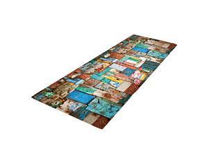 Carolines Treasures Tropical Fish on Mustard Floor Mat 19 x 27 Multicolor