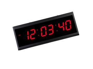 LED Digital Wall Clock Large Display Clock for Living Room Office  Red