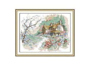 Country Landscape - Stamped Cross Stitch Kits for Beginners 11CT 55x44cm