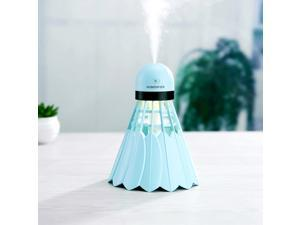 Portable Humidifier Mist Maker Air Purifier Aroma Diffuser LED Light Blue