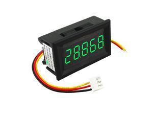 DC 3.5-30V Mini 5 Digit Digital LED Voltmeter Volt Meter Panel Car Green