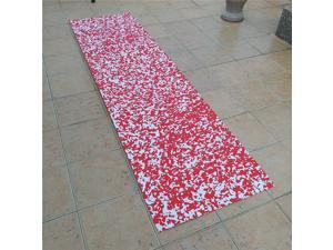 EVA Faux Teak Decking Mat Boat Marine Flooring Sheet red white camouflage