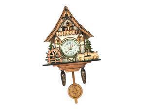 Antique Cuckoo Wall Clock Vintage Wooden Clock Home Decor Excellent Gift E