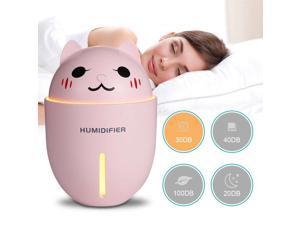 Cute 3 in 1 320mL Air Humidifier+Cooling Fan + Night light Pink