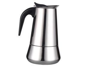 Stainless Steel Stovetop Moka Espresso Coffee Maker Pot Percolator 6 Cup