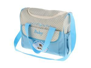 Mummy Multifunctional Baby Diaper Changing Maternity Handbag Sky Blue