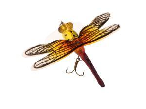 Popper Fishing Bait Life-like Dragonfly Floating Fly Fishing Flies Color F 005