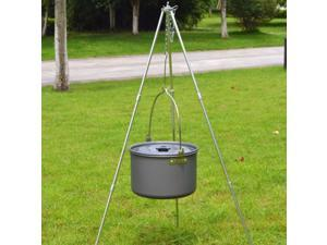 Portable Camping Hanging Pot Outdoor Cooking Stockpot Soup Pot Kettle S
