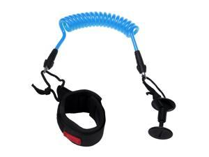 Bodyboard Coiled Wrist Leash, Boogie Board Bicep Leash Surf 4 ft Blue