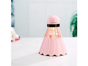 Portable Humidifier Mist Maker Air Purifier Aroma Diffuser LED Light Pink