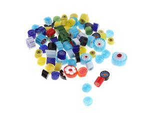 28g 5 styles Millefiori Glass beads crafts findings for art DIY  mixed 1