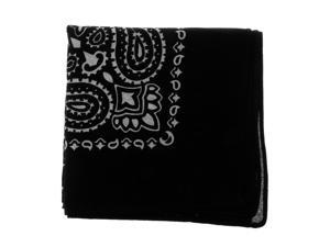100% Cotton Printed Bandana Head Wrap Scarf Headband Face Mask Black