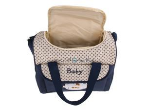 Mummy Multifunctional Baby Diaper Changing Maternity Handbag Dark Blue