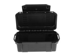 Outdoor Waterproof Shockproof Storage Box Airtight Emergency Dry Box Black