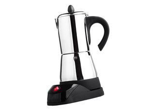 Electric Espresso Latte Percolator Stove Top Coffee Maker Mocha Pot 4 Cup