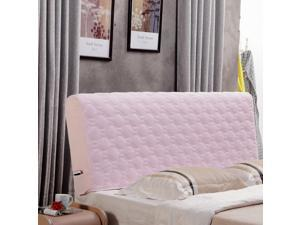 Thickening Stretch Bed Headboard Slip Cover Protector Decoration Pink