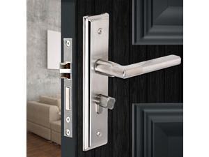 Stainless Steel Door Handle Lock Keyed Handleset Lever Mortise Panel Lock D