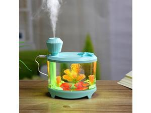 USB Fish Tank Shape Humidifier Air Diffuser Purifier Aroma Mist Maker Blue
