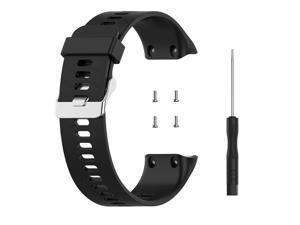 For Garmin Forerunner Replacement Watch Strap Sillion Wrist Watch Band Black