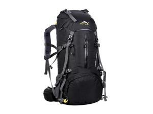 50L Large Hiking Backpack Waterproof Sports Climbing Camping Rucksack Black