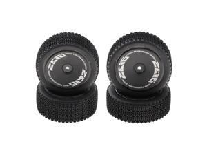 Front & Rear Rubber Tire Tyres for 1/14 RC Car WLTOYS 144001 Buggy Truck